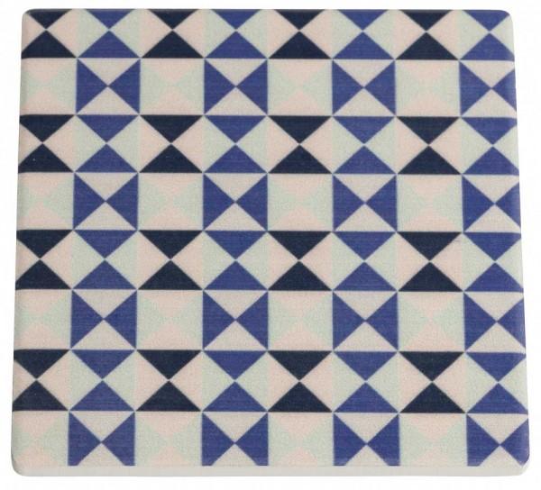 M&W Medina Saidia Untersetzer Keramik/Kork 9,5 x 9,5 cm