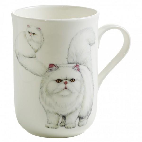M&W Pets Becher Perser Katze Becher mit Henkel 0,35 L