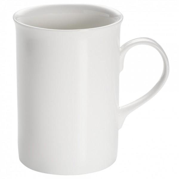 M&W White Basics Round Becher Englisch mit Henkel 0,29 L
