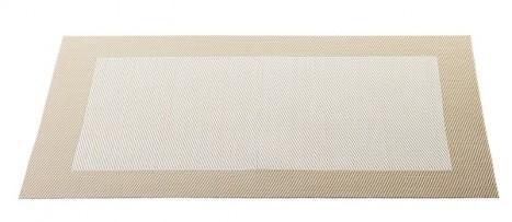 ASA Tischset mit gewebtem Rand 33,0 x 46,0 cm off white
