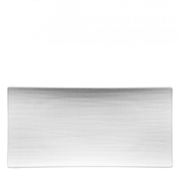 Rosenthal Mesh weiß Platte flach 26 x 13 cm